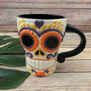 Hallmark Dia de los Muertos sugar skull coffee mug